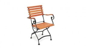 Krzesło ogrodowe składane stal + drewno