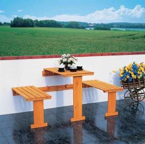 Zestaw mebli balkonowych meble balkonowe składane meble ogrodowe drewniane