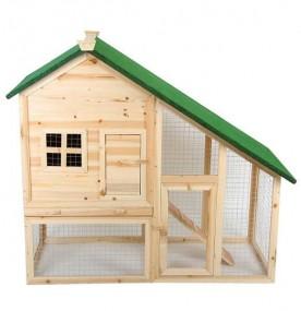 Klatka dla kur królików 2-piętrowa z rampą kurnik klatka dla zwierząt