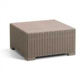 Stolik rattanowy cappuccino 68 x 68 cm