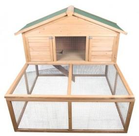 Klatka dla kur królików z otwieranym dachem i wybiegiem kurnik klatka dla zwierząt