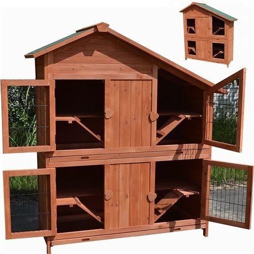 Klatka dla kur królików gryzoni 4 pomieszczenia klatka dla zwierząt