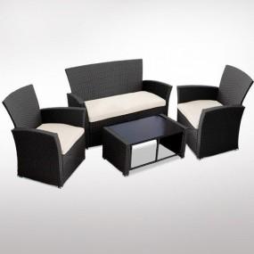Meble ogrodowe rattanowe sofa fotele stół 3 kolory