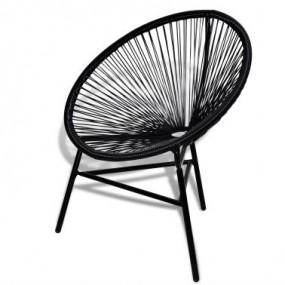 Krzesło owalne rattanowe czarne nowość!
