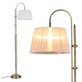Lampa podłogowa 170cm mosiądz współczesna biała