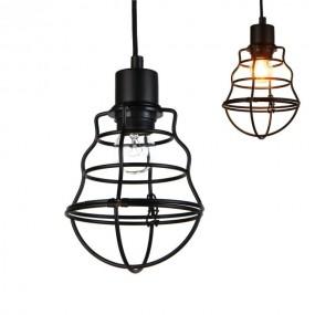 Lampa sufitowa żyrandol retro abażur metalowy czarny