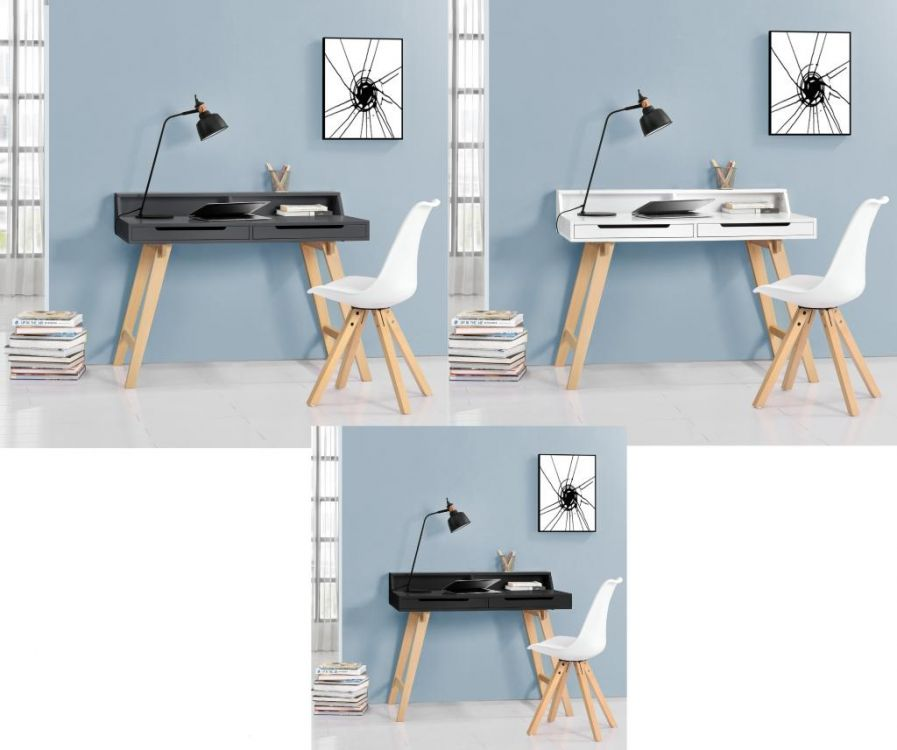 Poważnie Biurko komputerowe + krzesło retro zestaw 3 kolory konsola fotel WO26