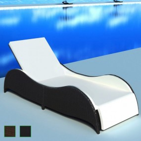 Leżanka rattanowa leżak kanapa 2 kolory rattan