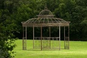 Pawilon ogrodowy altana ogrodowa metalowa pergola antyczna 350 cm