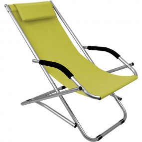 Krzesło ogrodowe leżak zielony
