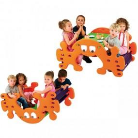 2w1 Huśtawka stolik konik na biegunach dla dzieci