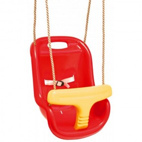 Huśtawka dla dzieci 0-3 lat czerwono-zółta