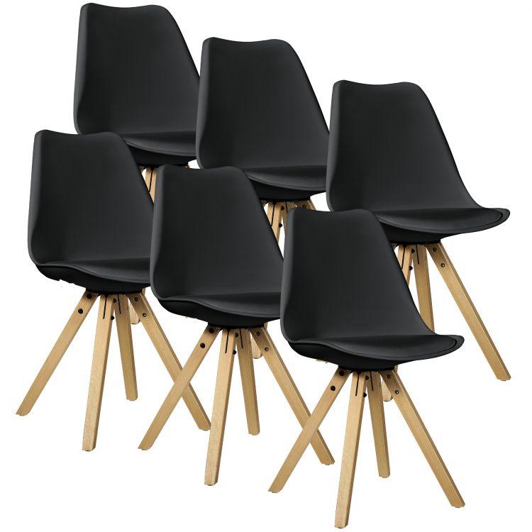 Świeże Krzesła czarne drewniane nogi komplet 6 sztuk od ręki! PROMOCJA NG13